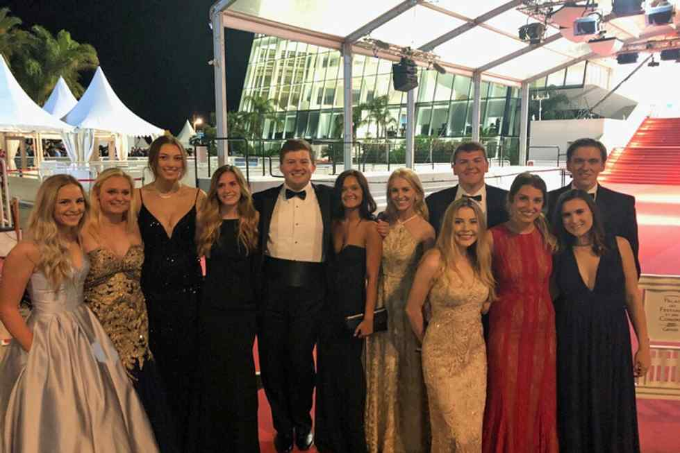 2018 HTM Cannes International Film Festival students on the red carpet.
